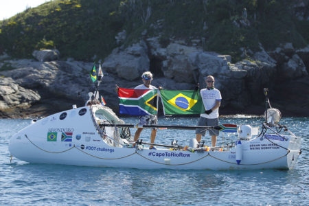 Braam Maherlbe and Wayne Robertson arrive in Rio